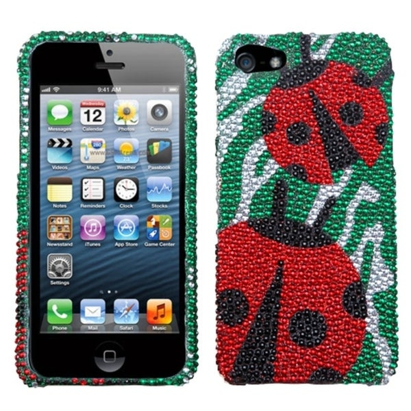 BasAcc Ladybugs Premium Diamante Protector Case for Apple® iPhone 5