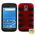 BasAcc Red/ Black Fishbone Case for Samsung T989 Galaxy S II