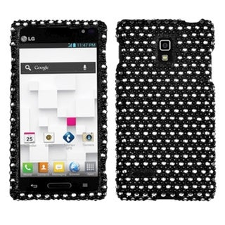 BasAcc Black/ White Dots Diamante Phone Case for LG P769 Optimus L9
