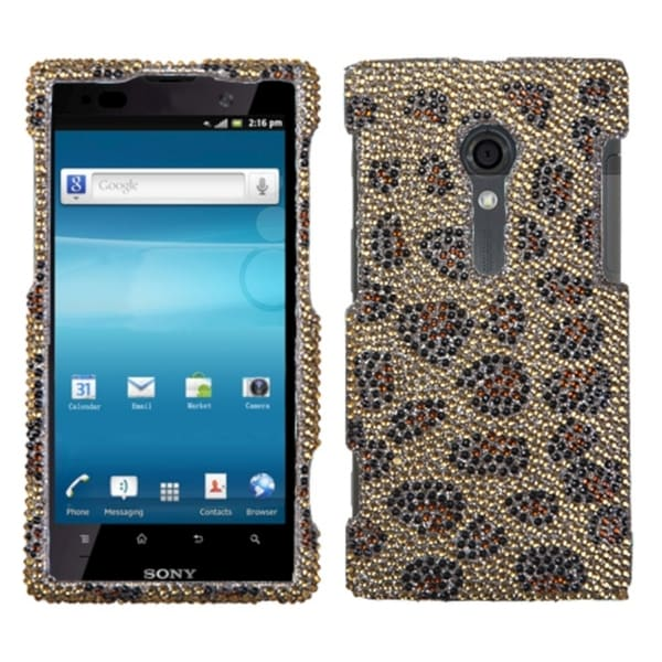 INSTEN Leopard Skin/ Camel Phone Case Cover for Sony Ericsson LT28AT Xperia Ion 11143344