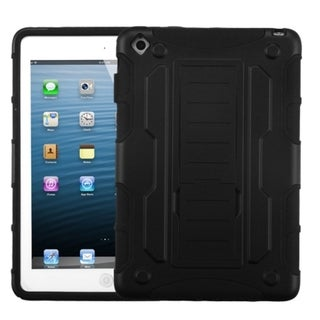 BasAcc Rubber Black/ Black Car armor stand Case for Apple iPad Mini