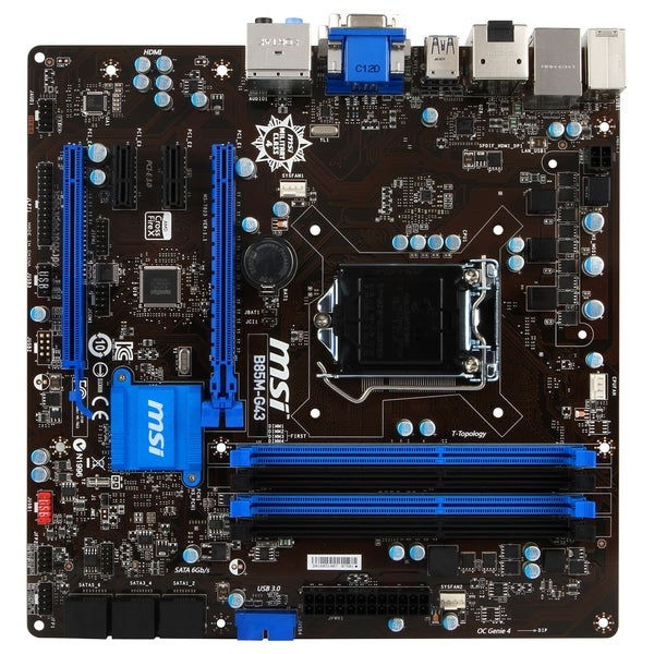 MSI B85M-G43 Desktop Motherboard - Intel B85 Express Chipset - Socket