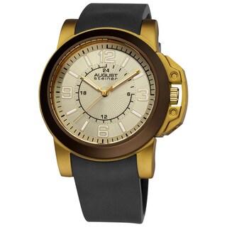 August Steiner Men's Quartz Sport Silicon Strap Watch