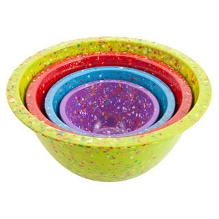 Zak! Kiwi Confetti 4-piece Nesting Bowl Set