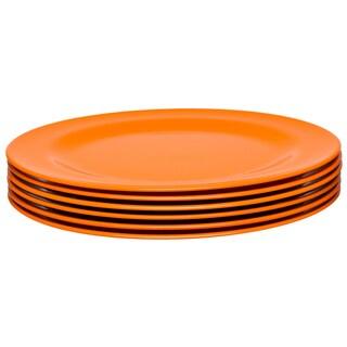 Zak! Ella Orange 9.25-Inch Salad Plates (Set of 6)