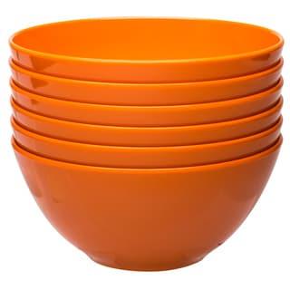 Zak! Ella Orange 6.25-Inch Individual Bowl (Set of 6)