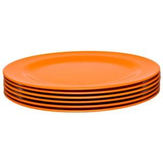 Zak! Ella Orange 10.75-Inch Dinner Plates (Set of 6)