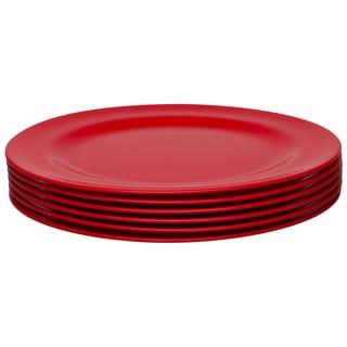 Zak! Ella Red 10.75-Inch Dinner Plates (Set of 6)