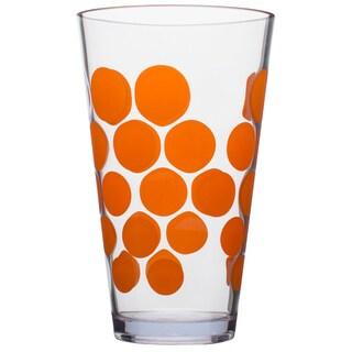 Zak! Dot Dot Orange 19-ounce Hiball Tumbler (Set of 6)