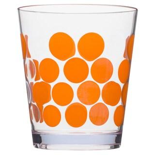 Zak! Dot Dot Orange 14-ounce DOF Tumblers (Set of 6)