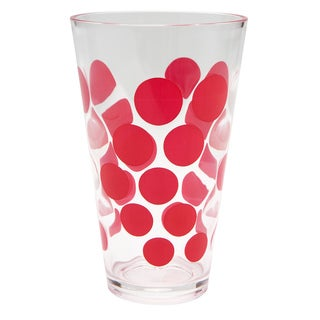 Zak! Dot Dot Red 19-ounce Hiball Tumbler (Set of 6)
