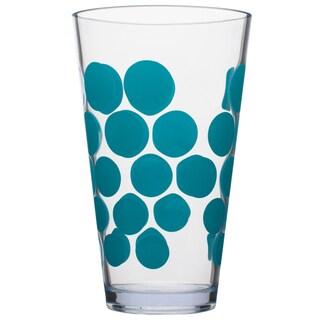 Zak! Dot Dot Blue Azure Acrylic 19-ounce HiBall Tumblers (Set of 6)
