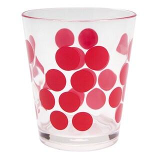 Zak! Dot Dot Red 14-ounce DOF Tumblers (Set of 6)