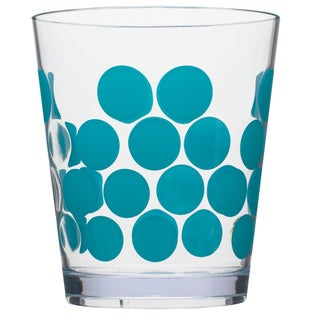 Zak! Dot Dot Azure Blue 14-ounce Tumblers (Set of 6)