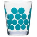 Zak! Dot Dot Azure Blue 14-ounce Tumblers (Set of 6)