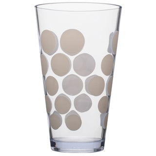 Zak! Dot Dot White 19-ounce Hiball Tumblers (Set of 6)
