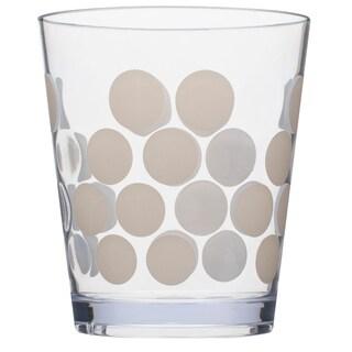 Zak! Dot Dot White Acrylic 14-ounce Tumblers (Set of 6)