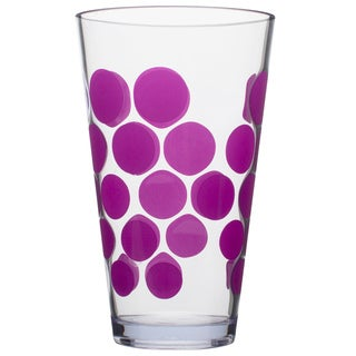 Zak! Dot Dot Grape Purple Acrylic 19-ounce Tumblers (Set of 6)