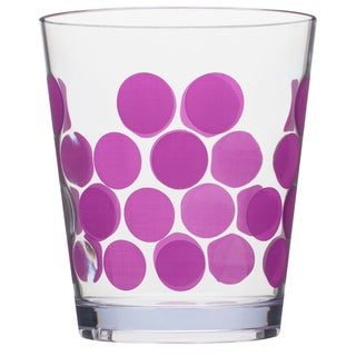 Zak! Dot Dot Grape Purple Acrylic 14-ounce DOF Tumblers (Set of 6)