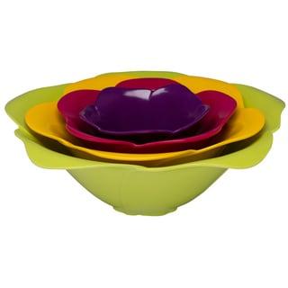 Zak! Flora Rose 4-piece Nesting Serving Bowl Set