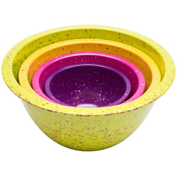 Zak! Flora Confetti 4-piece Nesting Bowl Set