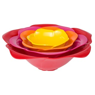 Zak! Bright Rose 4-piece Nesting Serving Bowl Set