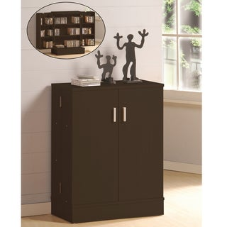 Baxton Studio Jesson Dark Brown Modern Media Cabinet