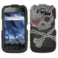 BasAcc Skull Diamante Case for Pantech P9070 Burst