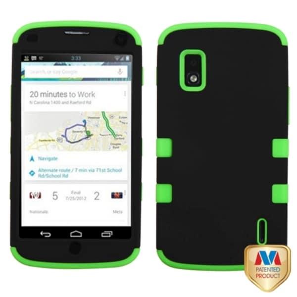 BasAcc Black/ Electric Green TUFF Hybrid Case for LG E960 Nexus 4
