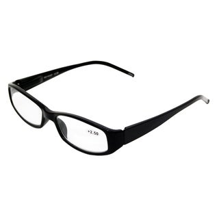 Sleek Black Unisex Fashion Reading Glasses