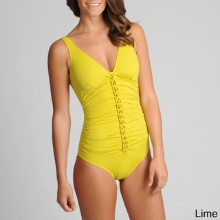 Spiegel Women's One-piece Braided Front Swimsuit