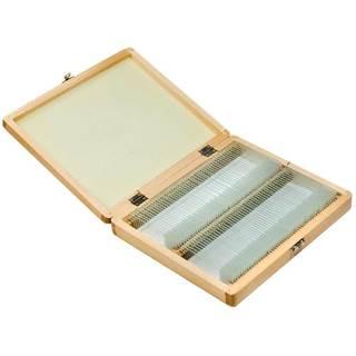 Barska 100 Prepared Microscope Slides and Wooden Case