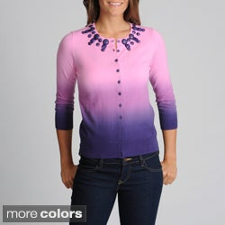 WDNY Women's Ombre Jewel Neck Sweater