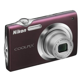Nikon Coolpix S3000 12.0 MP Plum Digital Camera with a Deluxe Bonus Accessories Kit (Refurbished)
