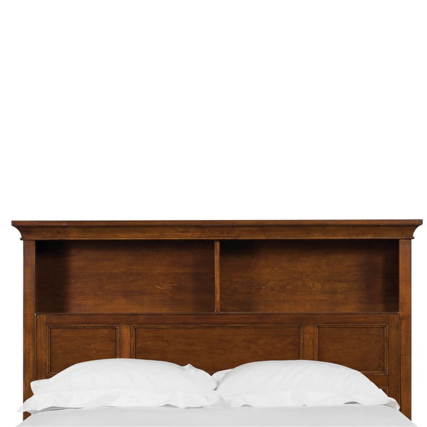 Riley Bookcase Cherry Finish Twin Bed Headboard - Overstock ...