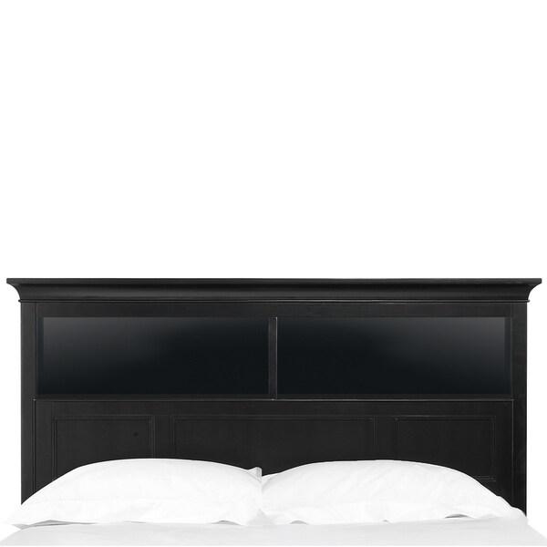 Bennett Full Black Bookcase Headboard Overstock Shopping Great