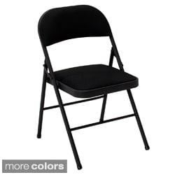 Cosco Fabric Seat Folding Chairs (Set of 4)
