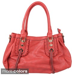 Journee Collection Women's Zip-top Slouch Faux Leather Hobo Bag
