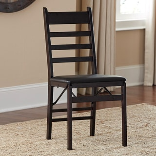 Cosco Wood Ladder Back Folding Chair (Set of 2)