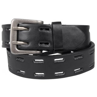 Journee Kid's Two Prong Genuine Leather Belt