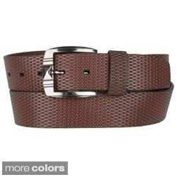 Boston Traveler Men's Leather Fashion Belt