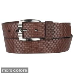 Boston Traveler Men's Leather Fashion Belt