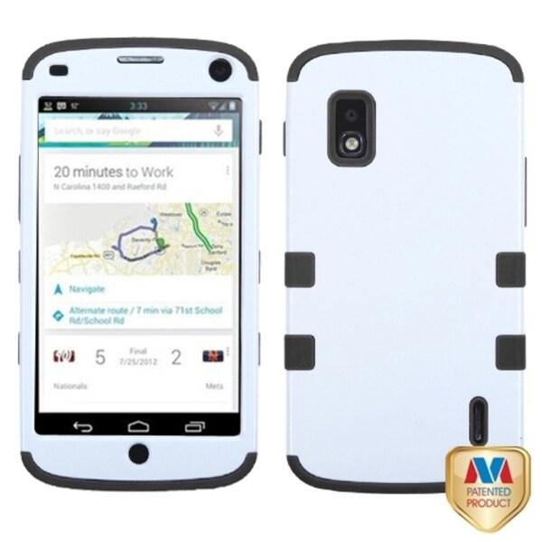 BasAcc Ivory White/ Black Hybrid Phone Case for LG E960 Nexus 4