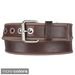 Boston Traveler Men's Canvas Leather Belt