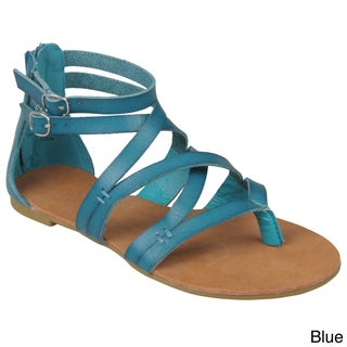 Journee Collection Women's 'Laguna-25' Strappy Gladiator Sandals