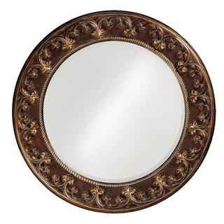 Crescent French Round Mirror