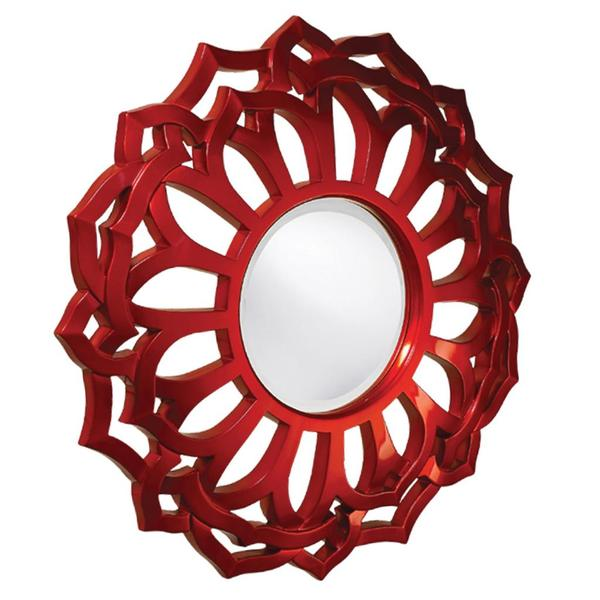 Cassidy Sunflower Metallic Red Mirror