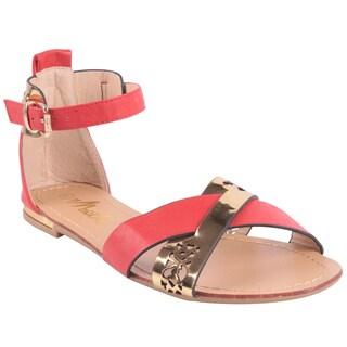 Machi by Beston Women's 'JACEY-5' Flat Gladiator Sandals
