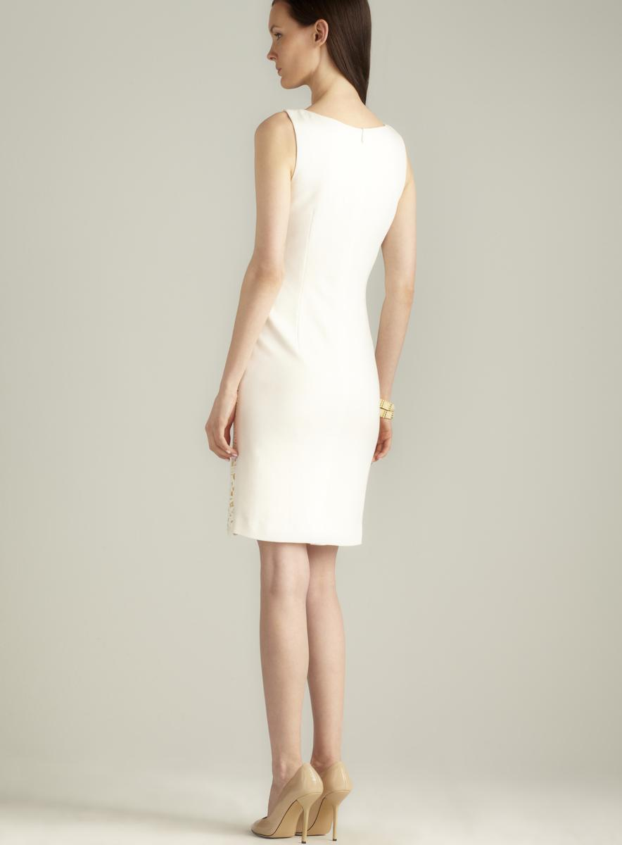 Catherine Malandrino Lace Front Scoop Neck Dress
