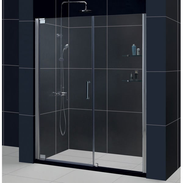 DreamLine Elegance 52 3/4 to 54 3/4-inch Frameless Pivot Shower Door